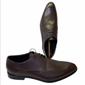 HUGO BOSS derby shoes in polished leather NEW